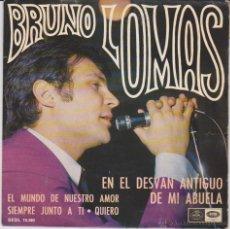 Disques de vinyle: BRUNO LOMAS - EN EL DESVAN ANTIGUO DE MI ABUELA + 3 - EP SPAIN 1967 EX / EX. Lote 43735313