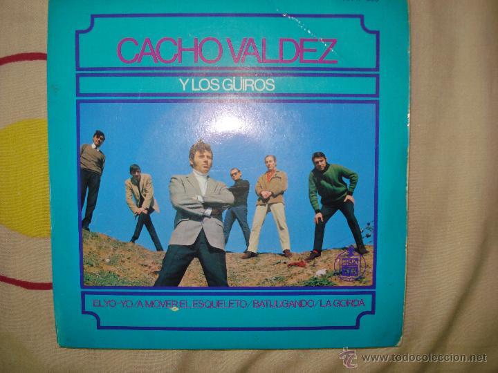 CACHO VALDES Y LOS GUIROS (Música - Discos de Vinilo - EPs - Grupos y Solistas de latinoamérica)