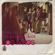 Discos de vinilo: MITOS, SG, ES MUY FÁCIL + 1, AÑO 1969. Lote 43744690