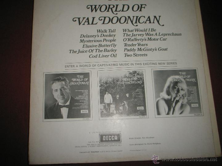 Discos de vinilo: LP-VINILO-GRAN BRETAÑA-THE WORLD OF VAL DOONICAN-AÑOS 60-DECCA-12 TEMAS-PERFECTO ESTADO - Foto 2 - 43746876