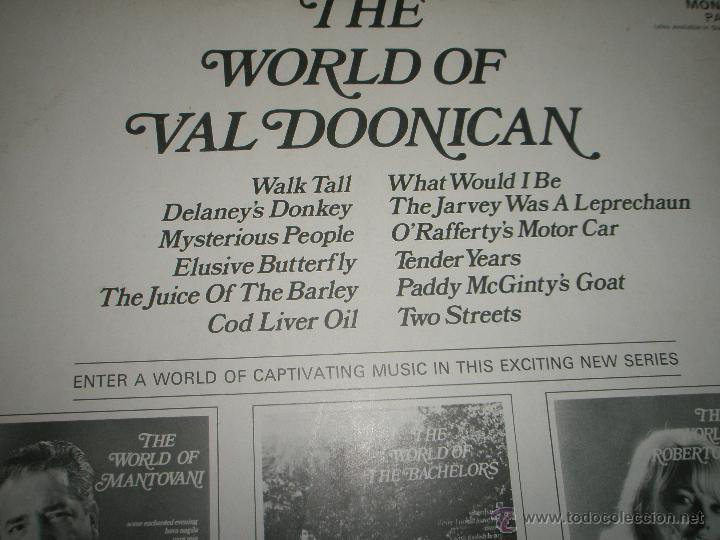 Discos de vinilo: LP-VINILO-GRAN BRETAÑA-THE WORLD OF VAL DOONICAN-AÑOS 60-DECCA-12 TEMAS-PERFECTO ESTADO - Foto 3 - 43746876