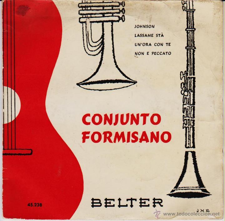 CONJUNTO FORMISANO - JOHNSON - LASSAME STA - NON E PECCATO EP SPAIN 1959 VG+ / VG+ (Música - Discos de Vinilo - EPs - Canción Francesa e Italiana)