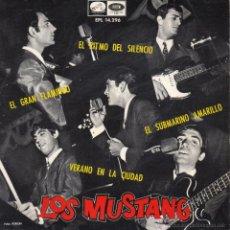 Discos de vinilo: MUSTANG, EP, SUBMARINO AMARILLO (BEATLES) + 3, AÑO 1966. Lote 43751058