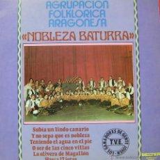 Discos de vinilo: AGRUPACION FOLKLORICA ARAGONESA - NOBLEZA BATURRA LP SPAIN 1980. Lote 43768684