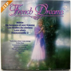 Discos de vinilo: DIVERSAS ORQUESTAS - FRENCH DREAMS - DOBLE LP MCR 1981 HOLANDA BPY. Lote 43770717