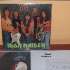 Discos de vinilo: IRON MAIDEN NUMBER OF THE BEAST LIVE LP. Lote 43775435