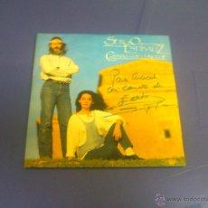 Discos de vinilo: SERGIO Y ESTIBALIZ - CUIDADO CON LA NOCHE + PAIS DEL AYER *AUTOGRAFIADO*. Lote 43781543