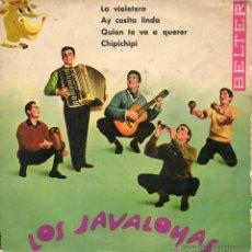 Discos de vinilo: JAVALOYAS, EP, LA VIOLETERA + 3, AÑO 1960. Lote 59878645