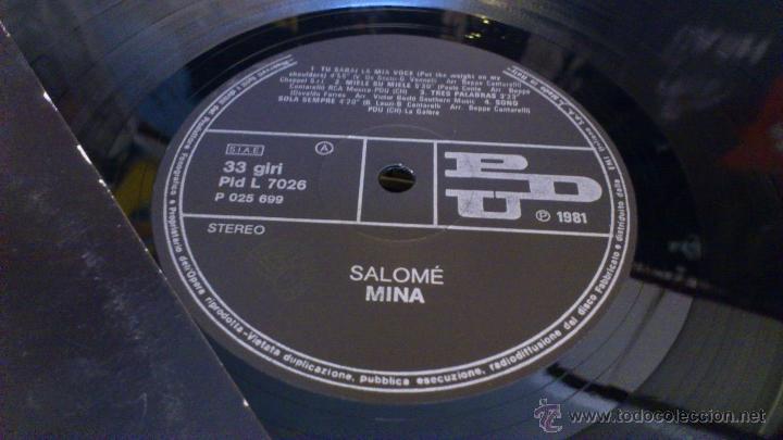 Discos de vinilo: Mina Salome 2lp doble disco de vinilo Cancion italiana - Foto 3 - 43789698