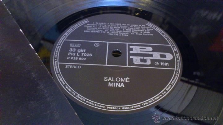 Discos de vinilo: Mina Salome 2lp doble disco de vinilo Cancion italiana - Foto 7 - 43789698