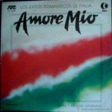 Discos de vinilo: LP ARGENTINO DE ARTISTAS VARIOS AMORE MÍO AÑO 1980. Lote 26459569