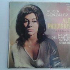 Disques de vinyle: ALICIA GONZALEZ - ALGO PRODIGIOSO +3 FESTIVAL DE EUROVISION 1963 EP PHILIPS. Lote 43800662