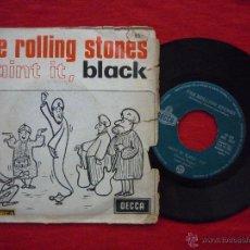 Vinyl-Schallplatten - SINGLE -THE ROLLING STONES-(PAINT IT,BLACK/LONG LONG WHILE) DECCA,1966 - 43801680