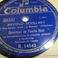 Discos de vinilo: FLAMENCO CANALEJAS DE PUERTO REAL,DISCO MUY BUEN ESTADO. Lote 43808243