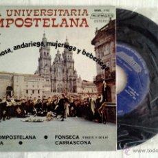 Discos de vinilo: TUNA UNIVERSITARIA COMPOSTELANA. EP 1976. MML - 1112. Lote 43811120