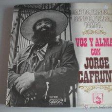 Discos de vinilo: MAGNIFICO LP DE - JORGE - CAFRUNE -. Lote 76652075