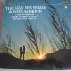 Discos de vinilo: MAGNIFICO LP DE RONNIE -ALDRICH -. Lote 43812587