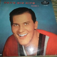 Discos de vinilo: PAT BOONE - PAT´S BIG HITS LP - ORIGINAL INGLES - LONDON RECORDS 1958 EN MONOAURAL -. Lote 43815784