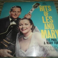 Discos de vinilo: LES PAUL & MARY FORD - HITS OF LES AND MARY LP - ORIGINAL INGLES - CAPITOL RECORDS 1960 - MONOAURAL . Lote 43816045