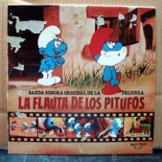 Discos de vinilo: MUSICA LP´S, LP DISCO VINILO - BANDO SONORA ORIGINAL PELICULA LA FLAUTA DE LOS PITUFOS - BELTER. Lote 108057590