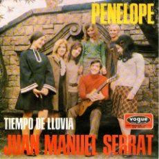Discos de vinilo: JOAN MANUEL SERRAT - SINGLE VINILO 7'' - EDITADO EN ALEMANIA - PENELOPE + TIEMPO DE LLUVIA. Lote 43821152