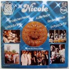 Discos de vinilo: NICOLE - EIN BISSCHEN FRIEDEN (MEDLEY) - MAXI JUPITER RECORDS 1982 BPY. Lote 43821481