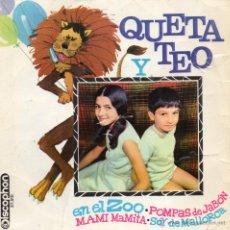 Discos de vinilo: QUETA & TEO, EP, EN EL ZOO + 3, AÑO 1967. Lote 43826422