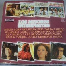 Discos de vinilo: MAGNIFICO LP DE - LOS MEJORES INTERPRETES -. Lote 43829403