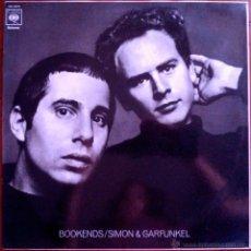 Discos de vinilo: SIMON & GARFUNKEL, BOOKENDS. LP ESPAÑA 1982, DISCO PROMO IMPRESO EN LABEL, COMO NUEVO. Lote 43829716