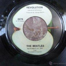 Discos de vinilo: BEATLES. REVOLUTION/ HEY JUDE. APPLE, USA 1968 ORIGINAL (SIN CUBIERTA) 2276. Lote 43832937