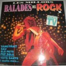 Discos de vinilo: MAGNIFICO DOBLE LP -DE - LES - MILLORS - BALADES DEL ROCK - CATALA -. Lote 43836811