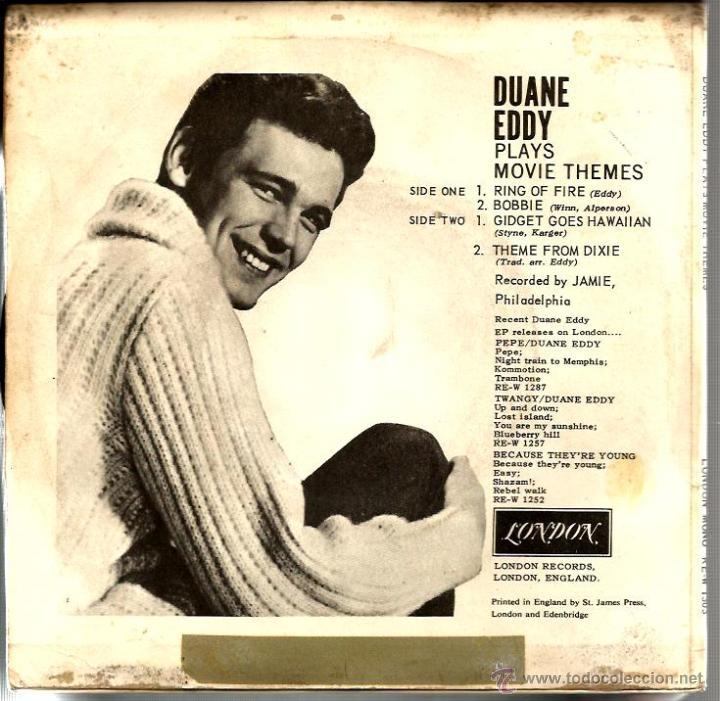 Discos de vinilo: EP DUANE EDDY ( MOVIE THEMES ) : RING OF FIRE + 3 MONO - Foto 2 - 43849276