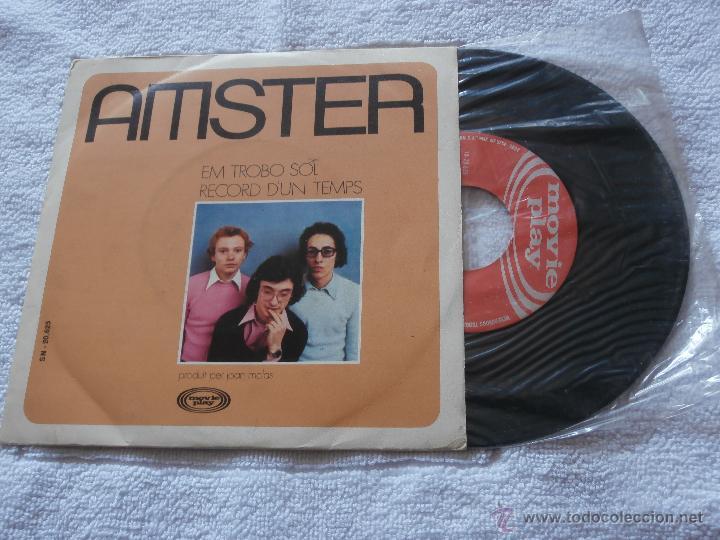 AMSTER 7´SG EM TROBO SOL / RECORDS D´UN TEMPS (1972) CANTADO EN CATALAN-BUENA CONDICION (Música - Discos de Vinilo - Maxi Singles - Grupos Españoles de los 70 y 80)