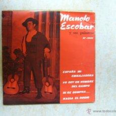 Discos de vinilo: MANOLO ESCOBAR Y SUS GUITARRAS - ESPAÑA MI EMBAJADORA +3. Lote 43850349