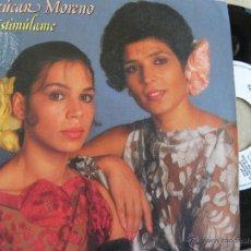 Discos de vinilo: AZUCAR MORENO -ESTIMULAME -SINGLE PROMO 1986 -PEDIDO MINIMO 3 EUROS. Lote 43851421