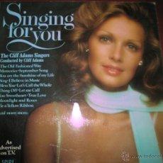 Discos de vinilo: LP-VINILO-GRAN BRETAÑA-SINGING FOR YOU-CLIFF ADAMS SINGERS-SPIRE-SSR 75/1-18 TEMAS-1975-VER F.. Lote 43862588