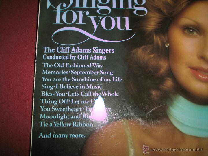 Discos de vinilo: LP-VINILO-GRAN BRETAÑA-SINGING FOR YOU-CLIFF ADAMS SINGERS-SPIRE-SSR 75/1-18 TEMAS-1975-VER F. - Foto 2 - 43862588