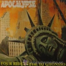 Discos de vinilo: FOUR RIDERS – APOCALYPSE - MAXI-SINGLE SPAIN 1995, HARDCORE, MAKINA . Lote 43863165