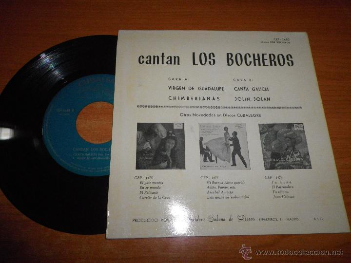 Discos de vinilo: CANTAN LOS BOCHEROS EP DE VINILO DEL AÑO 1962 HECHO EN ESPAÑA MUSICA CUBANA 4 TEMAS CUBALEGRE - Foto 2 - 43869143