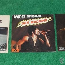 Discos de vinilo: LOTE 3 SINGLES. CREEDENCE CLEARWATER REVIVAL, JAMES BROWN & TOM JONES. Lote 43872602