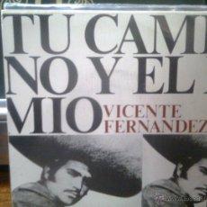 Discos de vinilo: VICENTE FERNANDEZ - TU CAMINO Y EL MÍO + 1 (CBS, 1974) + HOJA PROMO. Lote 43872623