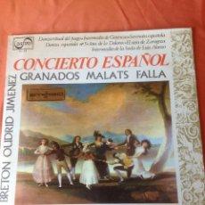 Discos de vinilo: . LP CONCIERTO ESPAÑOL ORQUESTA MARAVELLA DE CONCIERTOS DIR LUIS FERRER. Lote 43875111