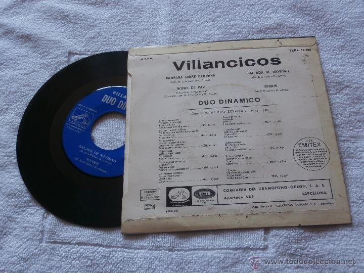 Discos de vinilo: DUO DINAMICO 7´EP VILLANCICOS (1965) EN BUEN ESTADO -COLECCION- - Foto 2 - 43884873