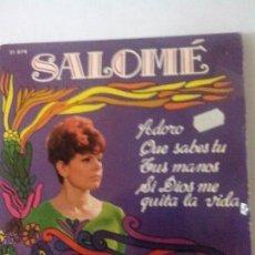 Discos de vinilo: SALOME. ADORO.QUE SABES TU.TUS MANOS, SI DIOS ME QUITA LA VIDA. BELTER 51874(1968). Lote 43891351