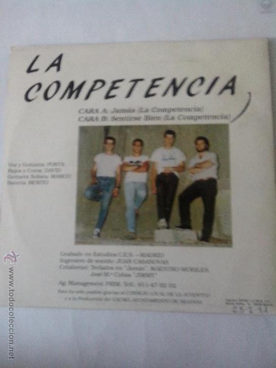 Discos de vinilo: LA COMPETENCIA. JAMAS. SENTIRSE BIEN. 1991 - Foto 2 - 43891740