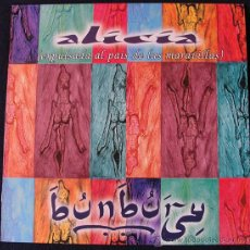 Discos de vinilo: ENRIQUE BUNBURY - ALICIA (EXPULSADA DEL PAÍS DE LAS MARAVILLAS) - MAXI SINGLE PROMO RAREZA. Lote 43899757
