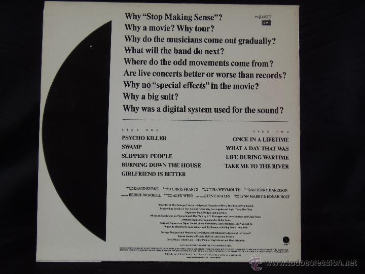 Discos de vinilo: TALKING HEADS STOP MAKING SENSE 1984 - Foto 2 - 43905881