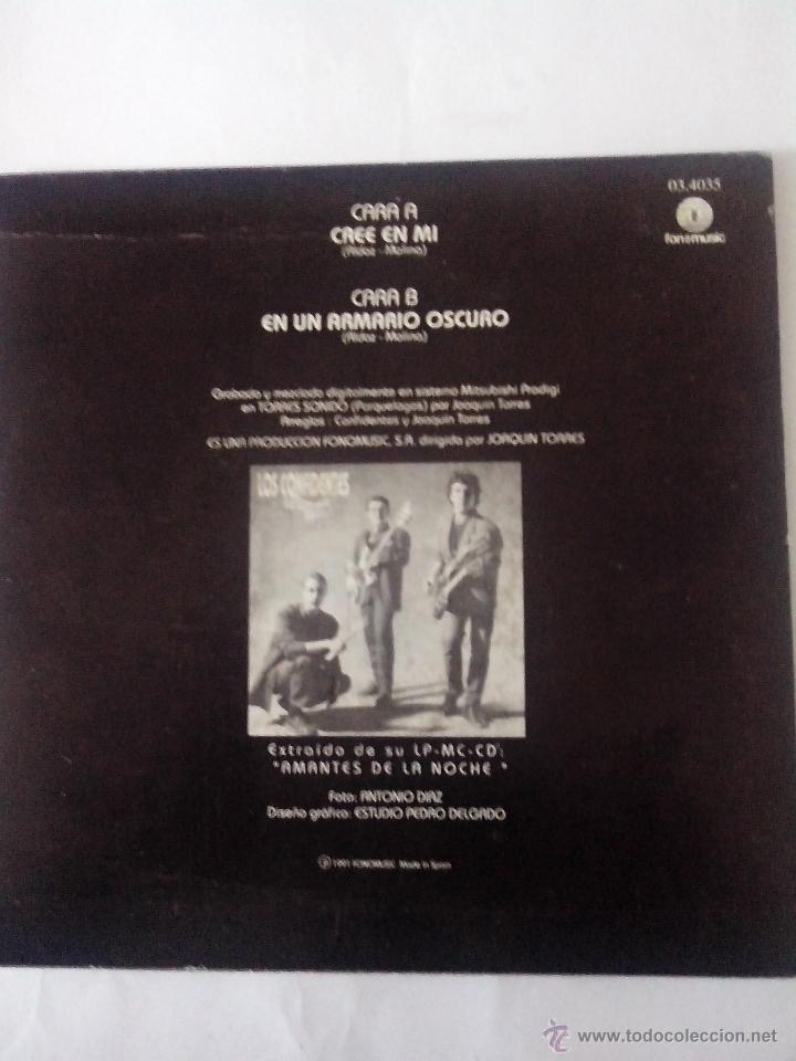 Discos de vinilo: LOS CONFIDENTES.CREE EN MI. EN UN ARMARIO OSCURO. FONOMUSIC 03.4035 (1991) - Foto 2 - 43907026