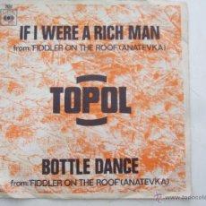 Discos de vinilo: TOPOL IF I WERE A RICH MAN-BOTTLE DANCE ( FIDDLER ON THE ROOF). Lote 43920164