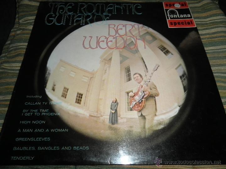 BERT WEEDON - THE ROMANTIC GUITAR LP - ORIGINAL INGLES - FONTANA RECORDS 1970 - STEREO - (Música - Discos - LP Vinilo - Pop - Rock Extranjero de los 50 y 60)